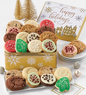 Premier Happy Holidays Gift Tin - Assorted Cookies