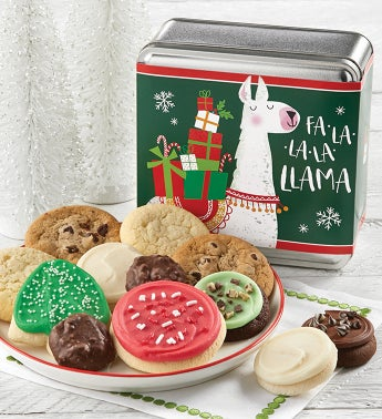 Fa La La Llama Holiday Treats Tin