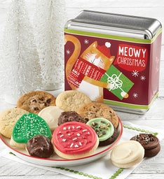 Meowy Christmas Holiday Treats Tin
