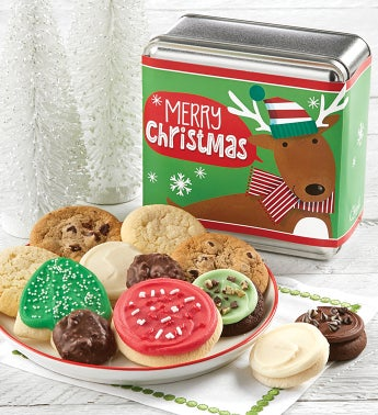 Merry Christmas Holiday Treats Tin