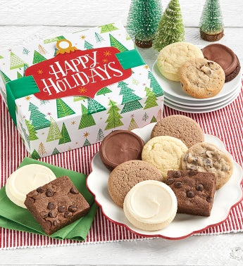 Sugar Free Happy Holidays Cookie And Brownie Gift Boxes