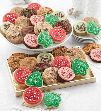 Bow Gift Box – 24 Classic Holiday Cookies