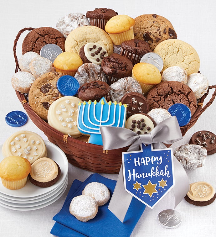 Happy Hanukkah Bakery Gift Basket