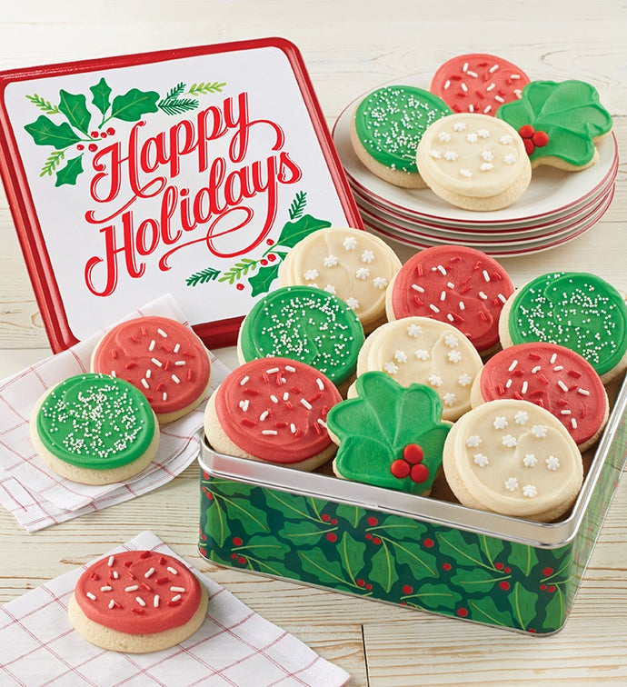 Happy Holidays Gift Tin – Holiday Cut-Outs