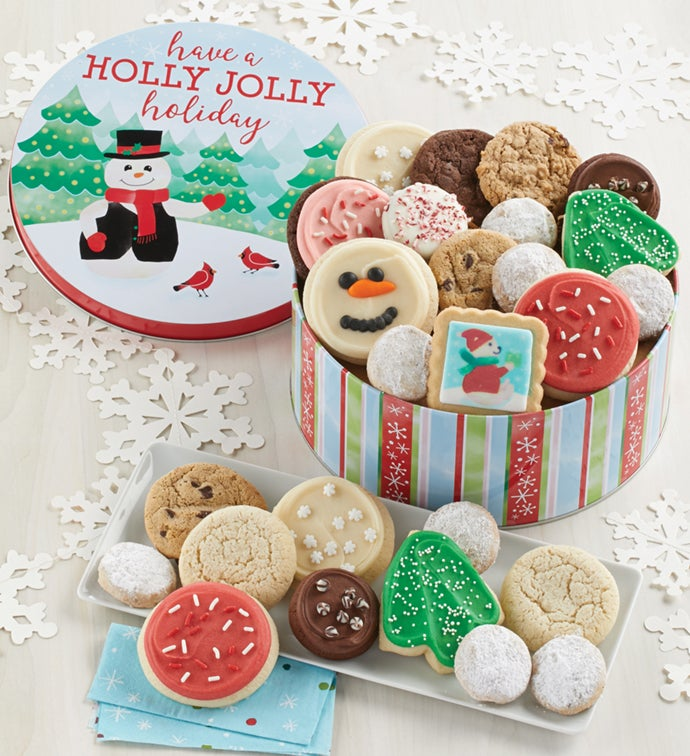 Holly Jolly Holiday Gift Tin - Treats Assortment
