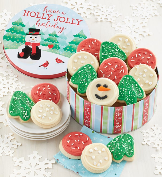 Holly Jolly Holiday Gift Tin - Cut-Outs Assortment