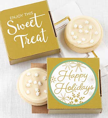 Happy Holidays Sparkling Cookie Card