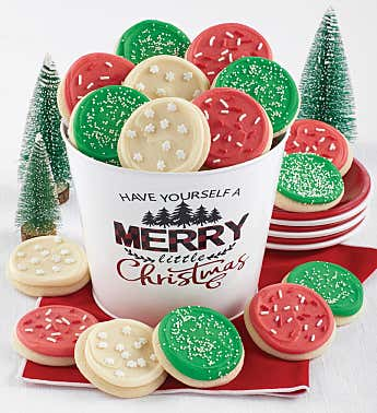 Merry Little Christmas Cookie Pail
