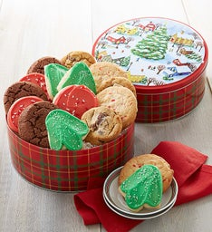 Holiday Tidings Gift Tin - Create Your Own - 16 cookies