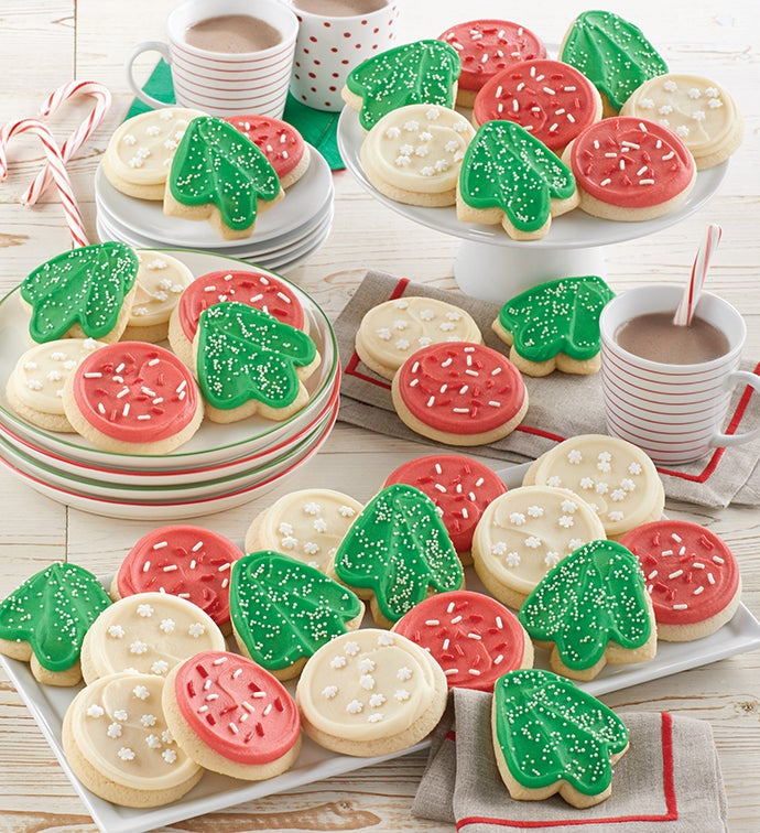 Buttercream Frosted Holiday Cut Out Cookies