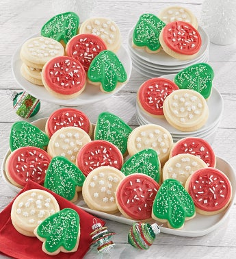 Bow Gift Box - Holiday Cut-outs - 36 Cookies