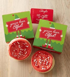 You've Been Elfed Cookie & Gift Card