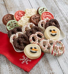Buttercream Frosted Cookies & Gourmet Pretzels
