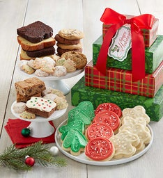 Home for the Holidays Bakery Gift Tower - Happy Holidays