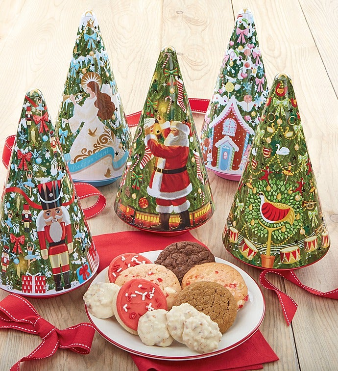 christmas tree tin set - Christmas Food Catalogs