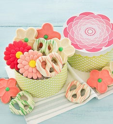 Cookie and Pretzel Flower Gift Box