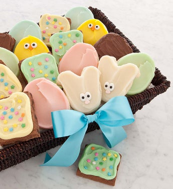Easter Cookie and Brownie Basket