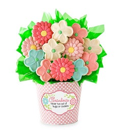 Grandma Cookie Flower Pot