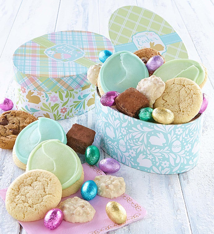 Egg shaped easter gift box sets negle Images