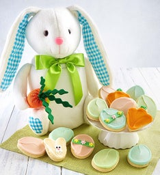 Plush Easter Bunny with Cookies