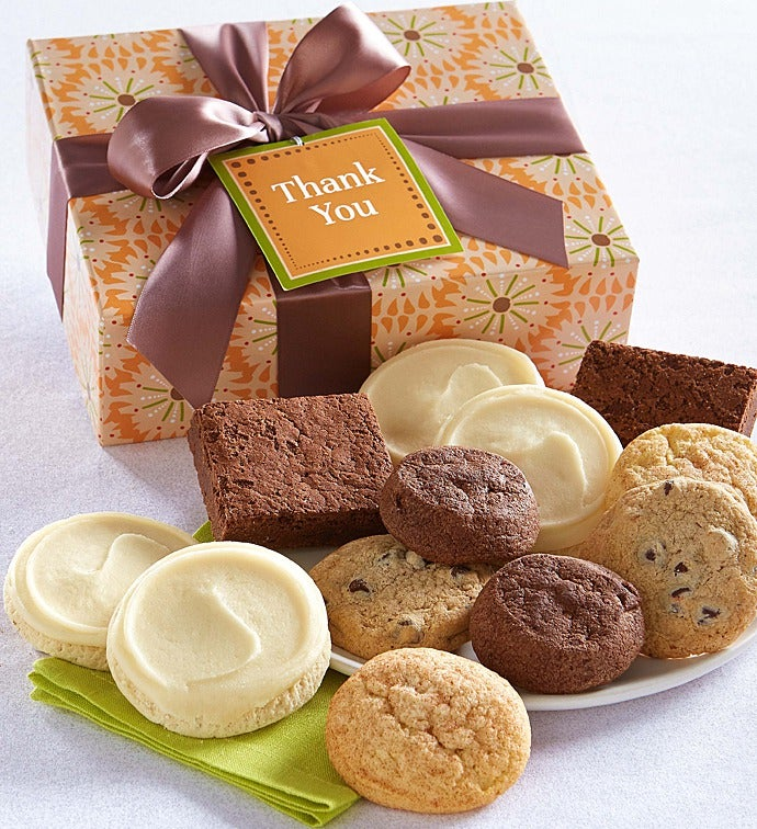 Gluten free thank you cookie brownie gift box negle Gallery