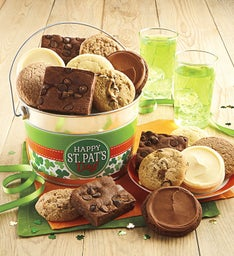 Sugar Free Happy St. Patrick's Day Cookie and Brownie Pail