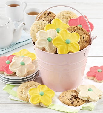 Mother39s Day Pink Pail and Cookies