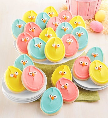 Buttercream Frosted Easter Cut-out Cookies