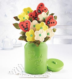 Collector's Edition Cookie Jar and Cookie Flowers