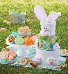 Cookie towers send a gift tower for any occasion cheryls easter bunny gift tower negle Choice Image