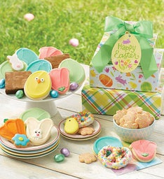 Easter cookies treats easter basket cookies cheryls easter gift tower negle Images
