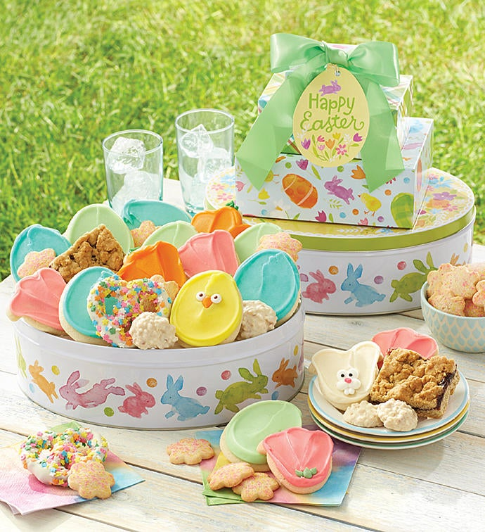 Easter gift tin tower negle Images