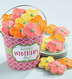 Happy Mother's Day Floral Cookie Pail
