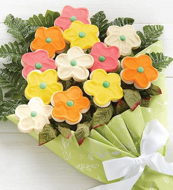 Buttercream Frosted Long Stemmed Cookie Flowers