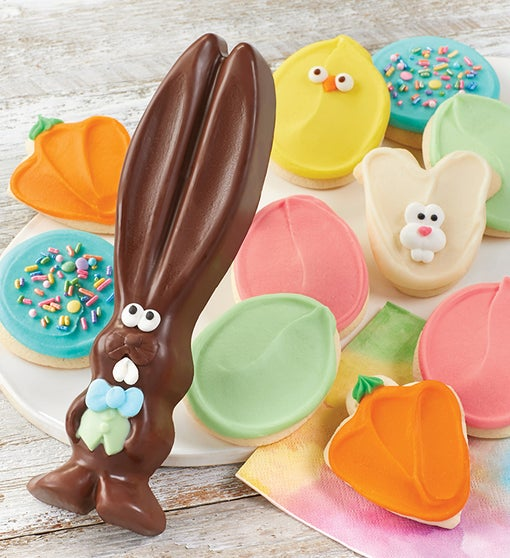 Chocolate Easter Bunny with Cookies