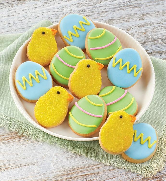 Mini Easter Crunchy Sugar Cookies