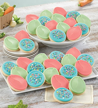 Buttercream Frosted Easter Egg Cut Outs - 24