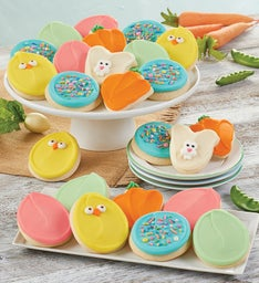 Buttercream Frosted Easter Cut Out Cookies