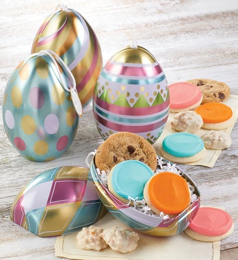 Easter Gift Tin Ornament Set of 4