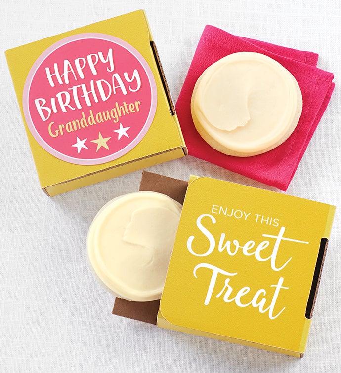 Happy Birthday Granddaughter Cookie Card
