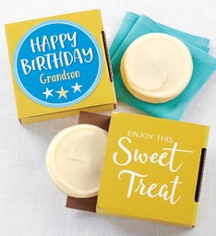 Happy Birthday Grandson Cookie Card