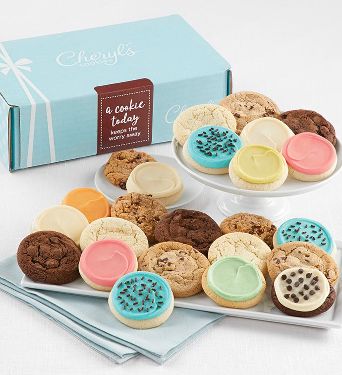 Cheryl's Keep the Worry Away 24-Cookie Gift Box