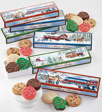 Set of 6 Holiday Travel Gift Boxes
