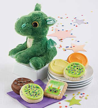 Magical Dragon Plush and Cookies