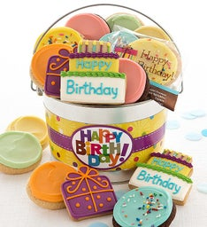 Happy Birthday Frosted Cookie Pail