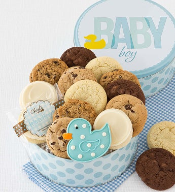 Welcome Baby Boy Gift Tin - Classic Assortment