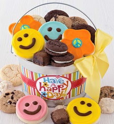 Happy Face Treats Pail