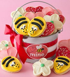 Bee Mine Frosted Cookie Pail