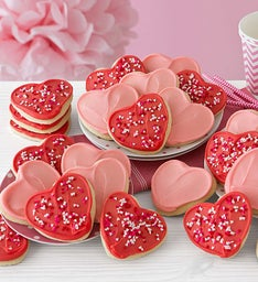 Buttercream Frosted Valentine Cut-out Cookies