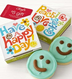 Happy Day Cookie Card - Blue